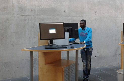 David So from the Ivory Coast did a bachelor degree in German at the University of Bamberg and is now studying history (for a master's degree).