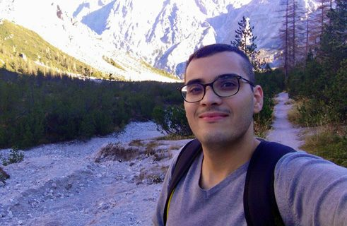 Ayoub Mchayaa from Tunisia is preparing for his bachelor studies in medical technology in a German course at the Brandenburg Technical University (BTU) in Cottbus.