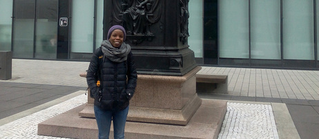 Rachel Muchira from Kenya is doing a Ph.D. at the University of Leipzig.