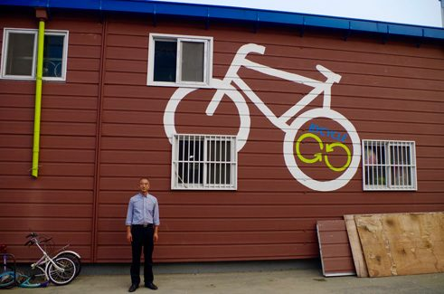 The bike repair shop ByCycle is located in South Korea's capital Seoul.