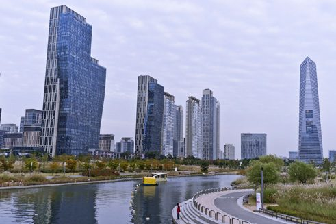 Der Central Park in Songdo