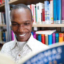 User at the library at Goethe-Institut Kenya