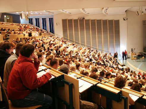 Auditoritum Maximum of the University in Cottbus; Photo: Sascha Nehls