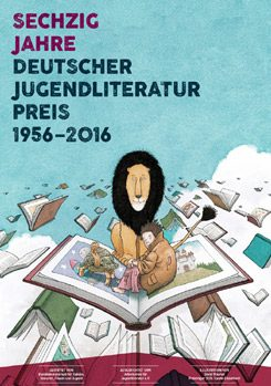 Poster advertising the 60th anniversary of the German Children's Literature Award, featuring an illustration by David Wiesner, winner of the 2015 picture book category