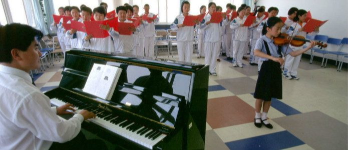 Musikunterricht an der South Ocean International School in Qingdao