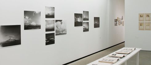 "Exhibition view, ""Masanao Abe: Mt. Fuji and Atmospheric Science""