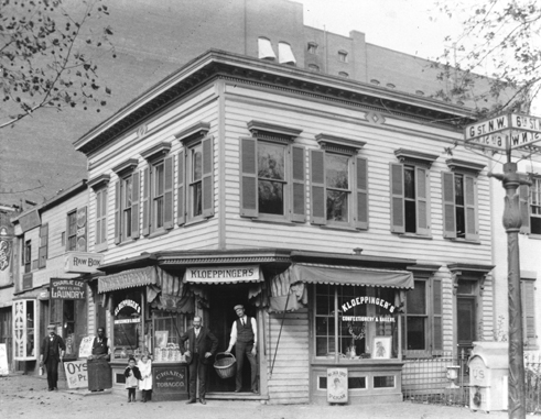 William C. Kloeppinger's Confectionery and Bakery, corner of G and 6th Streets, NW, 1900.