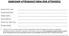 Workshop Attendee Form