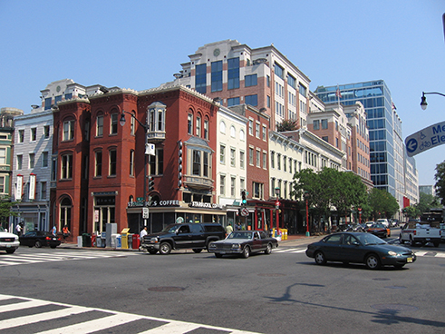 West Side of 7th Street Looking North from H Street NW, August 2010.