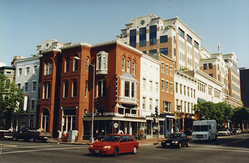 West Side of 7th Street Looking North from H Street NW, August 2000.