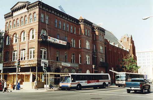 North Side of H Street Looking West from 7th Street NW, August 2000.