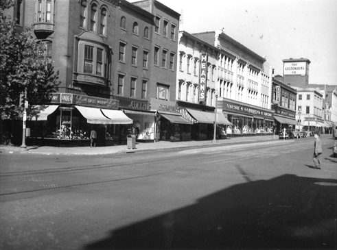 West Side of 7th Street Looking North from H Street NW, 1949.