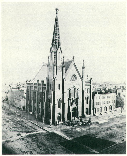 Founded in 1862 by a group of prominent Baptists who took the Union side during the Civil War, the building's tall spire was a landmark in the downtown area for many decades until a major storm on July 30, 1913 so weakened the spire that it was removed.