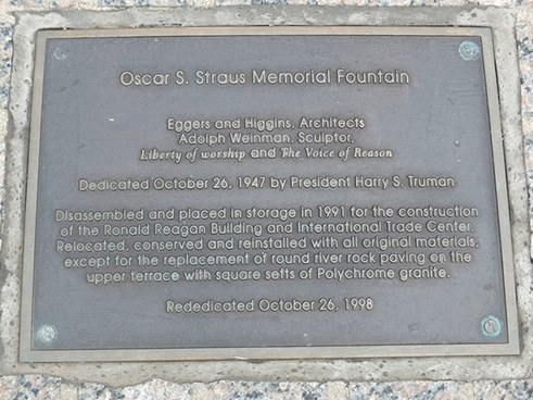 Plaque at Base of Memorial, 2015.