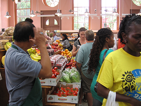 A renovated Eastern Market is once again humming with activity. (June 2009)