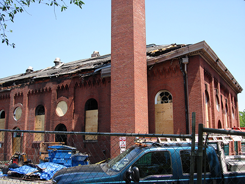 Eastern Market suffered massive damage during a fire on April 30, 2007.