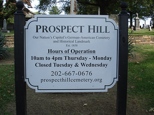 Prospect Hill Cemetery, October 2010.