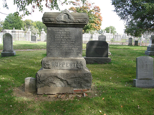 Ruppert family graves, Prospect Hill Cemetery, October 2010.
