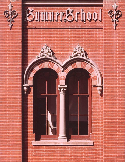 Detail of an arched window at the Sumner School. (n.d.)