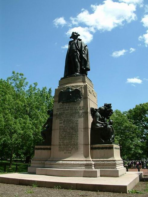 The Steuben Monument in LaFayette Square.