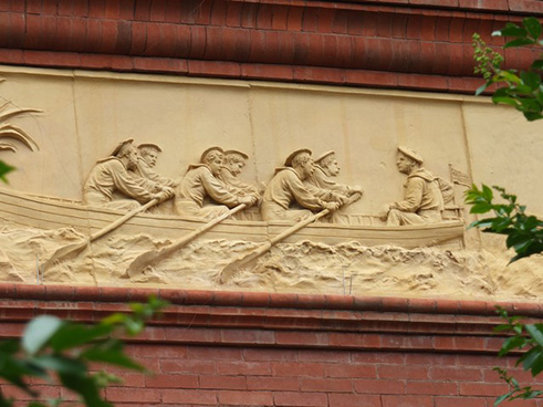 Sailors on Buberl's frieze, 2015.