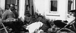 IRELAND_Heinrich-Boell_6-website.jpg From left to right: Heinrich, Annemarie, René and Raimund Böll in front of the cottage in Keel, Achill Island, Ireland, c. 1958.