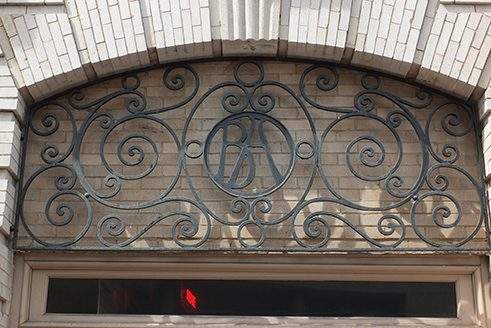 Detail des Gebäudes der Oriental Building Association, 2016