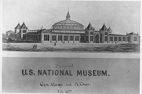 Proposal, U.S. National Museum, General Montgomery Meigs and Adolf Cluss, 1877
