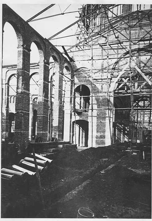 Interior construction of the National Museum