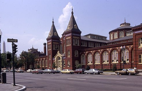 Exterior of the Arts and Industries Building, 1970s