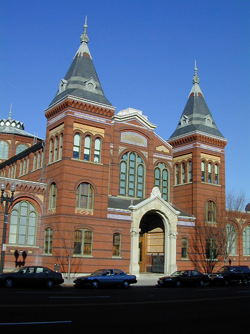 Exterior of the Arts and Industries Building, 2005