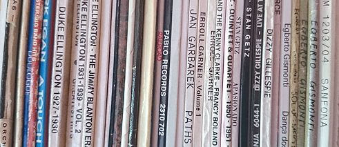 A sign of urban hipness - the vinyl collection