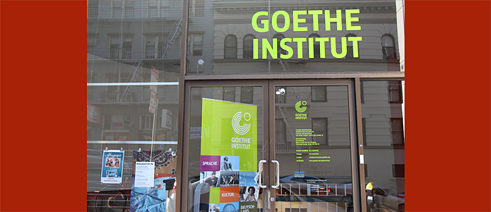 Eingang ART-Lounge, Goethe-Institut San Francisco