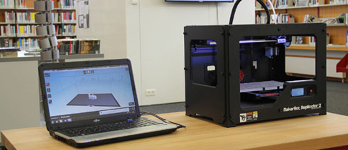 3-D printer in the City Library of Cologne