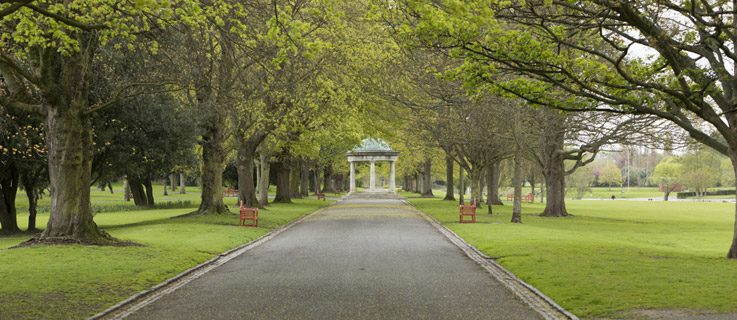 Path in the Irish National War Memorial Gardens Park