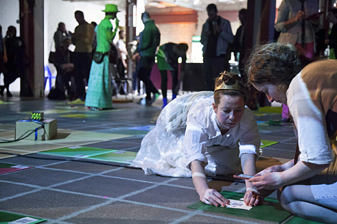 Interactive Game Performance: RE:WONDERLAND or FOLLOW THE WHITE RABBIT.