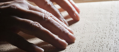 Blind people read with their fingers;