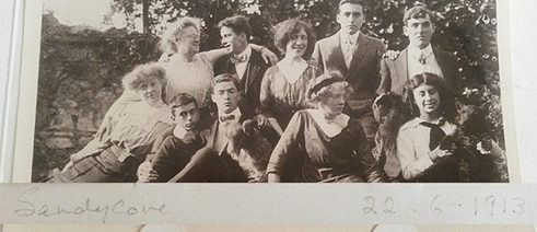 June 1913 in Sandycove, Dan third from the left in front row, Willie farthest right in the back row