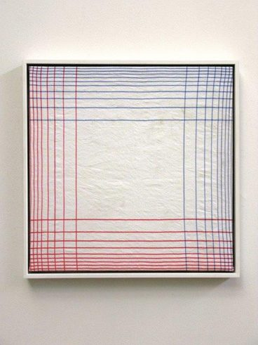 Mike Meiré, Bauhaus (2008) kitchen towel in picture frame
