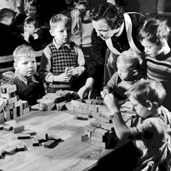 Nursery school children in 1961