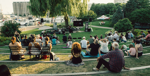 "The ""Toronto Music Garden"" at Lake Ontario"