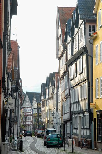 Old half-timbered houses in Weidenhausen