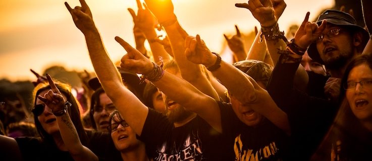 Heavy-Metal-Fans at the Wacken Open Air Festival 2015