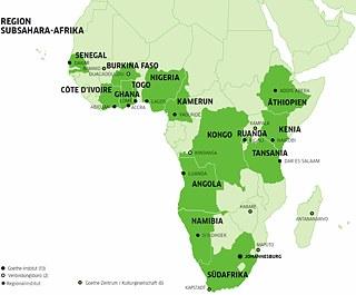 Afrika Karte Deutsch.The Goethe Institut In Sub Saharan Africa Goethe Institut Südafrika