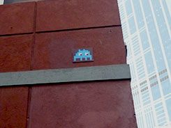 Mosaic by French artist Invader