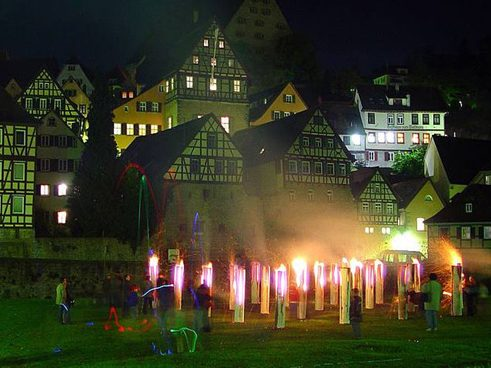 Pyrotechnic display at the Lange Kunstnacht