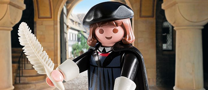 Martin Luther as a toy figure