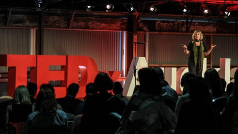 Minnie Baragwanath speaking at TEDx.