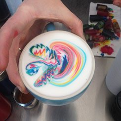 Emily Coumbis' colourful Latte Art