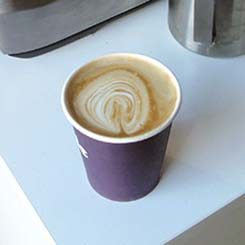 The author's attempt at Latte Art